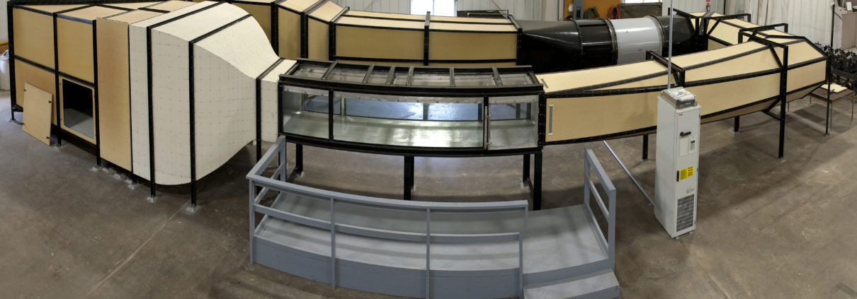 IIHR shop personnel designed and constructed this precision research wind tunnel.