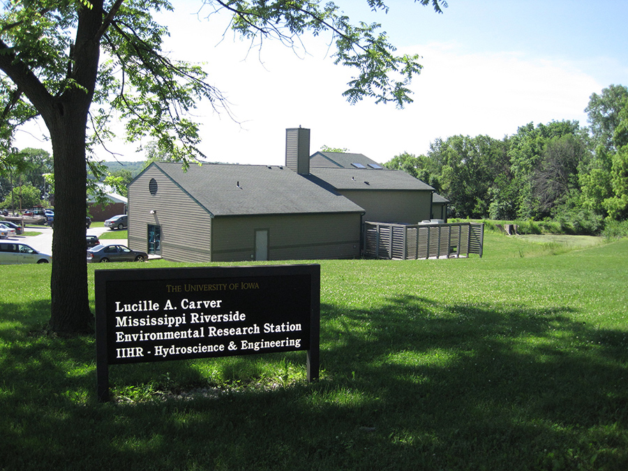 Exterior view of the Lucille A. Carver Mississippi Riverside Environmental Research Station.