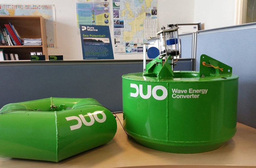 Wave energy converters ready for testing.