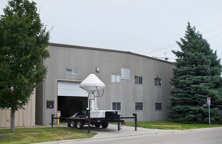 Exterior photo of IIHR's Wind Tunnel Annex, located on campus.