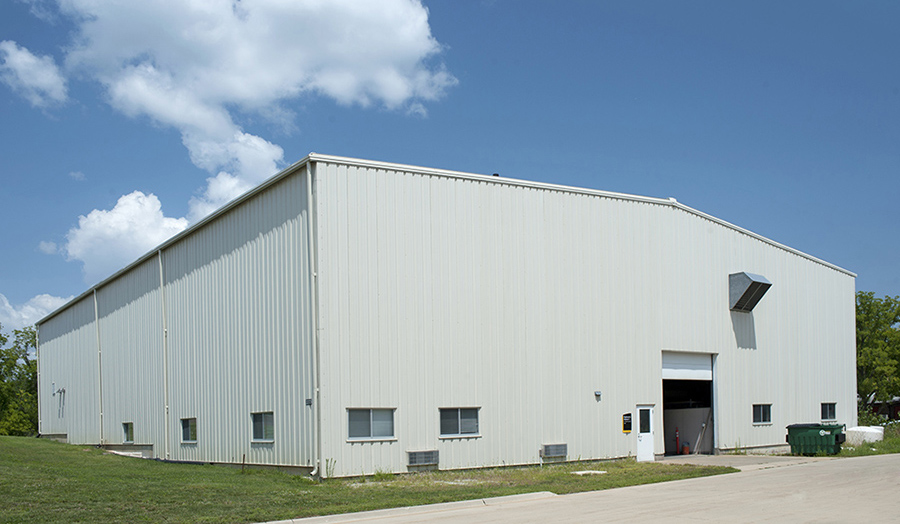 An exterior view of IIHR's Hydraulics Annex Two at the Research Park.