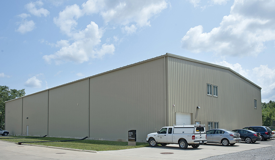 An exterior view of IIHR's Wave Basin Annex.