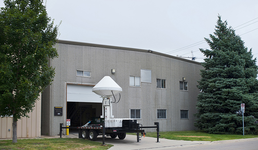 An exterior view of IIHR's Wind Tunnel Annex.